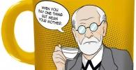 Taza Freud para regalar a psicólogo