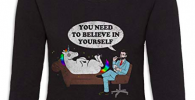 Camiseta de mangas largas divertida para psicólogos regalar estudiante