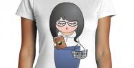 latostadora - Camiseta Kokeshi Psicloga para Mujer