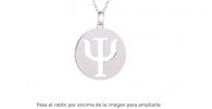 Colgante Símbolos de Psicología con Cadena Collar Largo Plata Dorado Mujer,Collar con Colgante de Letra Griega PSI