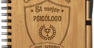 Cuaderno de Notas el Mejor psicologo del Mundo - Libreta de Madera Natural con Boligrafo Regalo Original Tamaño A5