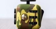 Cubo anti-estres color verde camuflaje