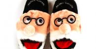 Freudian Slippers - Comfy Plush Slip-On Footwear - Size Large