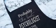 H34565ard Probablemente el Mejor psicólogo en el Mundo Delantal Regalo Cocina Hornear Barbacoa para Terapeuta médico Estudiante Graduado Encogimiento