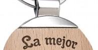 Llavero Psicologa La Mejor Psicologa del Mundo - Llavero de Metal Grabado en Madera - Regalo para Psicologas Personalizado