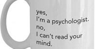 Shinanla Regalo Divertido del psicólogo - Taza para el psicólogo - no Puedo 'Leer tu Mente
