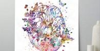 cuadro acuarela cerebro