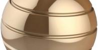 CaLeQi Escritorio cinético Juguete Oficina Metal Spinner Ball Giroscopio con ilusión óptica para Aliviar el estrés Inspirar Creatividad Interior