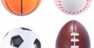 LIOOBO 4pcs Mini Pelotas de Deportes Bolas de estrés Juguetes a Favor para el Alivio de estrés de Fiesta Infantil