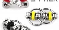 mciskin Flippy Chain Fidget Toy Alivia el estrés Reductor Add, ADHD, ansiedad y Autismo (Paquete de 3)